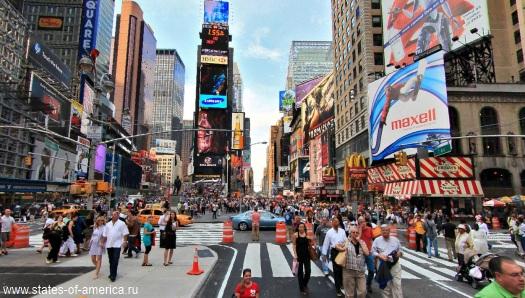 Таймс-сквер (Times Square). Нью-Йорк. США.
