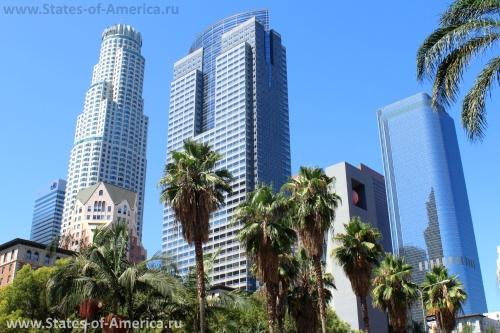 Вид на даунтаун Лос-Анджелеса