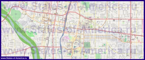 Подробная карта города Альбукерке