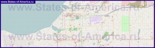 Подробная карта города Анкоридж