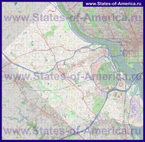 Подробная карта города Арлингтон