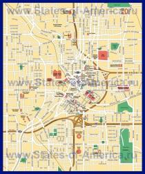 Подробная карта города Атланта