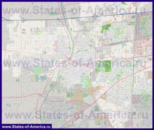 Подробная карта города Орора (Аврора)