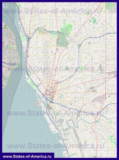 Подробная карта города Буффало