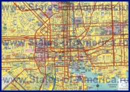 Подробная карта города Балтимор