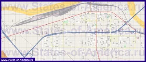 Подробная карта города Барстоу