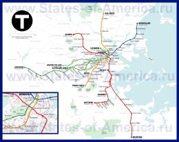 Карта метро Бостона