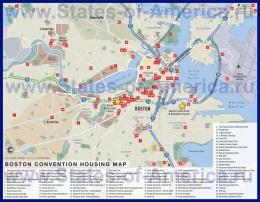 Карта отелей Бостона