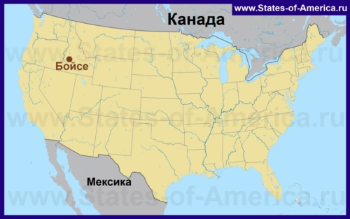 Бойсе на карте США