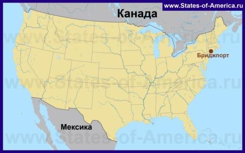 Бриджпорт на карте США