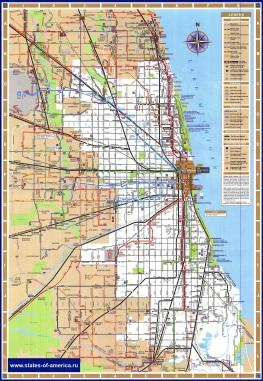 Карта транспорта Чикаго