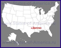 Даллас на карте США
