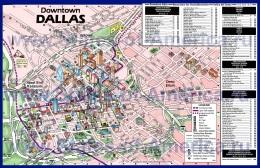 Туристическая карта Далласа с отелями и достопримечательностям