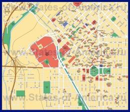 Подробная карта города Денвер с достопримечательностями