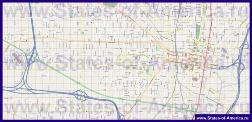 Подробная карта города Джэксон