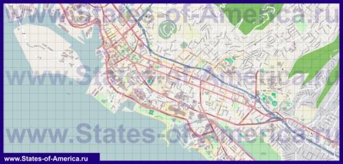 Подробная карта города Гонолулу