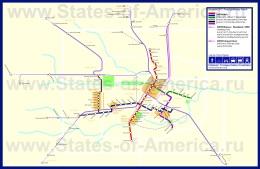 Карта метро Хьюстона