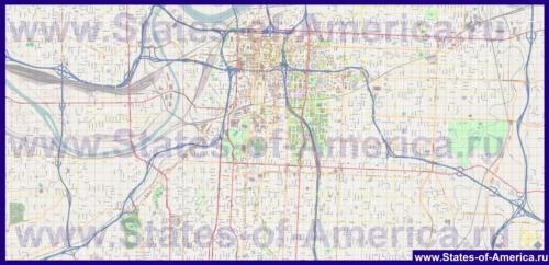 Подробная карта города Канзас-Сити (Миссури)