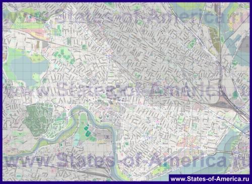 Подробная карта города Кеймбридж