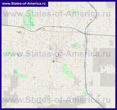 Подробная карта города Коламбия