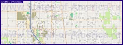 Подробная карта города Ланкастер