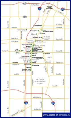 Карта казино Лас-Вегаса