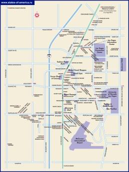 Туристическая карта Лас-Вегаса