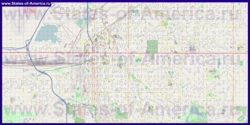 Подробная карта города Линкольн