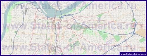 Подробная карта города Луисвилль