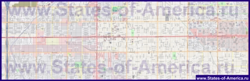 Подробная карта города Меса