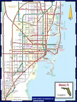 Карта дорог Майами