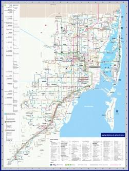Карта транспорта Майами и Майами-Бич