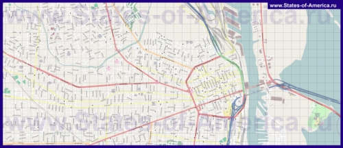 Подробная карта города Мобил
