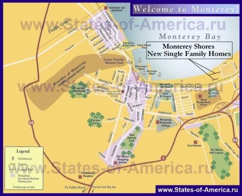 Туристическая карта Монтерея