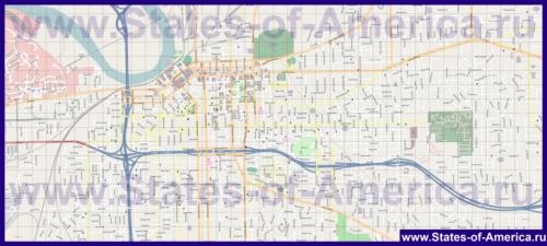 Подробная карта города Монтгомери