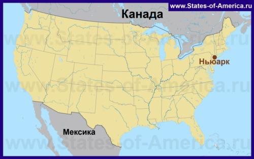 Ньюарк на карте США