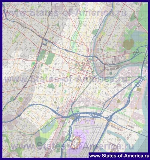 Подробная карта города Ньюарк