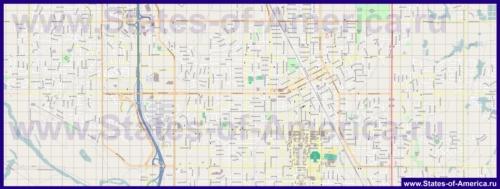 Подробная карта города Норман