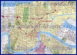 Подробная карта Нового Орлеана