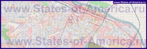 Подробная карта города Огаста