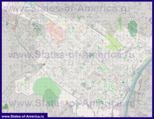 Подробная карта города Олбани