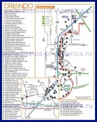 Карта отелей Орландо