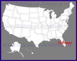 Орландо на карте США