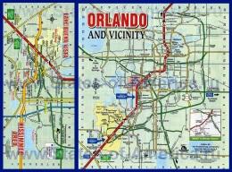 Подробная карта города Орландо
