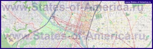 Подробная карта города Остин