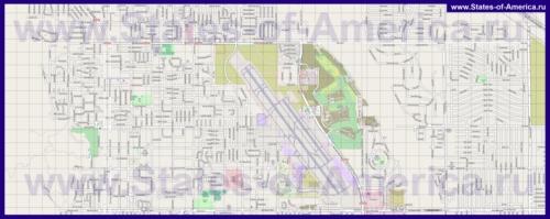 Подробная карта города Палм-Спрингс
