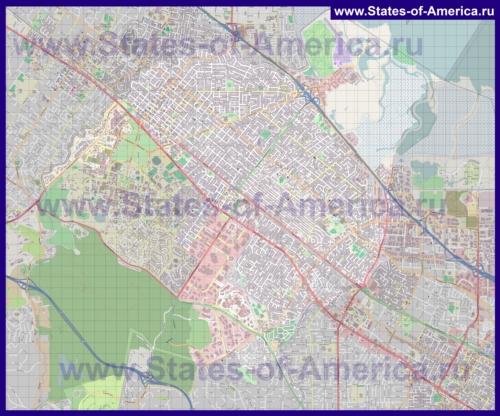 Подробная карта города Пало-Альто