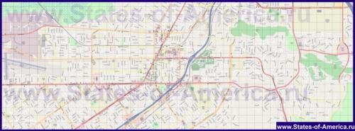 Подробная карта города Риверсайд