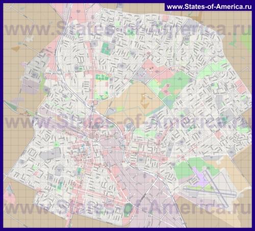 Подробная карта города Салинас