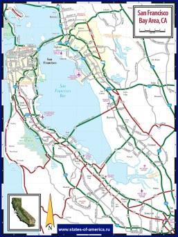 Карта дорог Сан-Франциско и пригородов